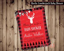 rustic lumberjack baby shower invitation baby boy woodsy