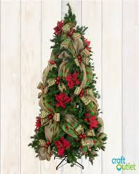 christmas tree decorating with burlap and deco mesh craftoutlet
