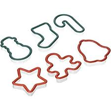 amazon com sweet creations plastic holiday cookie cutters with