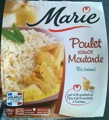 riz cuisiné poulet sauce moutarde riz cuisiné 290 g e
