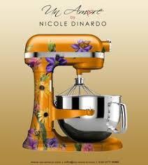 Yellow Kitchen Aid - kitchenaid stand mixer decals vinyl artisan by hailstatecowbells