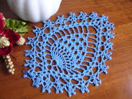 crochet lace doily lace coasters blu cotton appication napkin