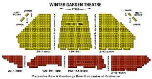 Winter Garden Theater Broadway - winter garden theatre seating chart theatre seating chart