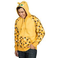 minecraft costume halloween city buy minecraft ocelot premium zip up hoodie for adults