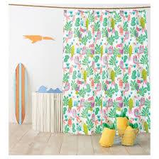 Cynthia Rowley Curtain Parakeet Paradise Shower Curtain Bright Fern Pillowfort Target