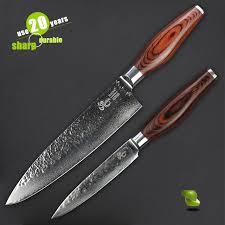 lot couteau de cuisine haoye 8 chef et 5 couteau 2 pièce damas couteaux de cuisine