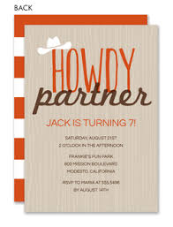 cowboy invitations western party invitations