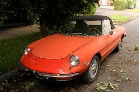 alfa romeo classic spider old parked cars 1973 alfa romeo spider