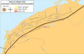 Hood River Oregon Map by Eagle Creek Fire Evacuation Levels Change For Hood River County