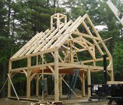 Small Timber Frame Homes by Timber Framed Tiny House With Through Mortise Staircase Tiny