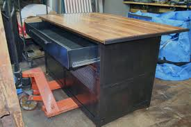 real industrial edge furniture llc industrial kitchen island