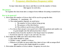 How To Do A Frequency Table Descriptive Statistics Chapter Two Content 2 1 Data Organization