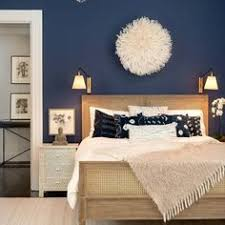 This Bedroom Design Has The Right Idea The Rich Blue Color - Bedroom paint ideas blue