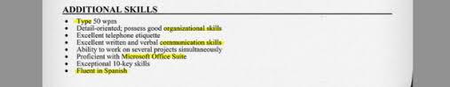 Resume Other Skills Examples Resume Additional Skills Free Resume Templates