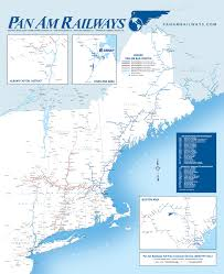 new england central railroad map maps and routing guide pan am railways