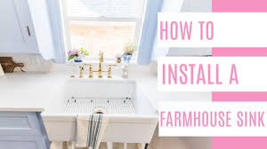 how to install farm sink in cabinet how to install a farmhouse sink at home with