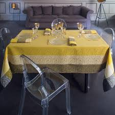 Coffee Table Cloth by Tablecloth Nastasya Gold Tablecloth Table Linen Le Jacquard