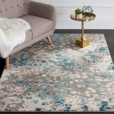 light blue round area rug found it at joss main miley rug in gray light blue pam s 1st