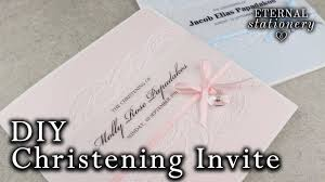 how to make a christening baptism invitation card with