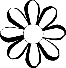 black and white flower outline free download clip art free