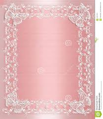 Sweet 16 Birthday Invitation Cards Wedding Border Pink Satin And Lace Stock Photo Image 4057370