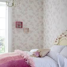 Taupe And Pink Bedroom Flower Wallpaper Floral Wallpaper Vintage Rose