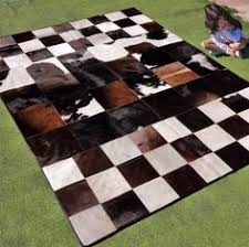Cow Area Rug New Cowhide Rug Leather Mad Cow Town Hide Animal Skin Patchwork