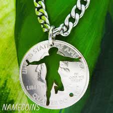 key necklace men images Soccer necklace men 39 s athletic jewelry or key chain hand cut jpeg