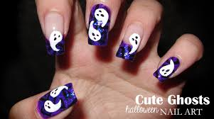 cute ghosts halloween nail art party 2012 youtube
