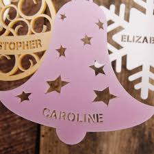 personalised christmas tree decoration by urban twist