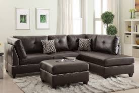 Montebello Collection Furniture Brown Leather Sectional Sofa And Ottoman Steal A Sofa Furniture