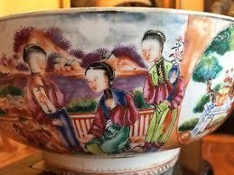 mandarin porcelain a large qianlong mandarin porcelain punch bowl