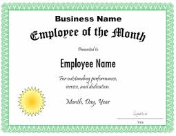 employee of the month certificate template customize the title