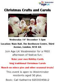 christmas crafts and carols carers network