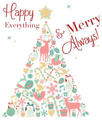 happy everything happy everything and merry always advertising design