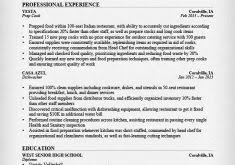 nice looking line cook resume 2 prep cook and line resume samples
