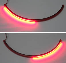 split integrated flexible array motorcycle brake light bar