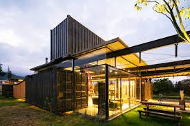 shipping container home in ecuador dismantles like a clock for