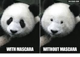 Panda Meme Mascara - via 9gagcom with mascara without mascara mascara meme on me me