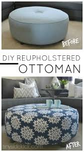 How To Reupholster A Leather Ottoman How To Reupholster An Ottoman