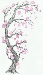 cherry blossom falling petals japanese kanji symbol for