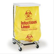 Medical Laundry Hamper by Infectious Linen Bag Marketlab Inc