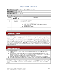 Sample Project Summary Template Project Summary Document Template by Project Summary Example Project Flow P And L Statement Template