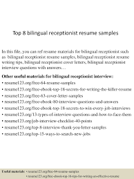 Dental Receptionist Resume Examples by Bilingual On Resume Resume For Your Job Application
