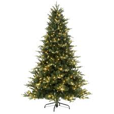 7 5 ft blue noble spruce artificial christmas tree with 600 clear
