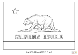 California Bear Flag Republic Flag Of California Coloring Page Free Printable Coloring Pages