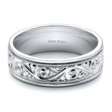 wedding band engraving engraved men s wedding band kirk kara 100671