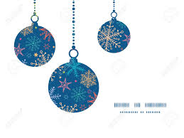 vector colorful doodle snowflakes christmas ornaments silhouettes
