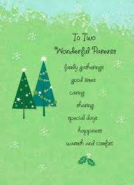 wonderful christmas parents christmas card cardstore
