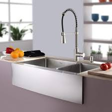 kitchen faucets for granite countertops kitchen excellent kraus farmhouse sink for your kitchen ideas